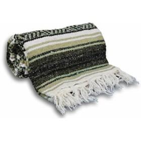ヨガYogaAccessories Traditional Mexican Yoga Blanket ( Light Brown)