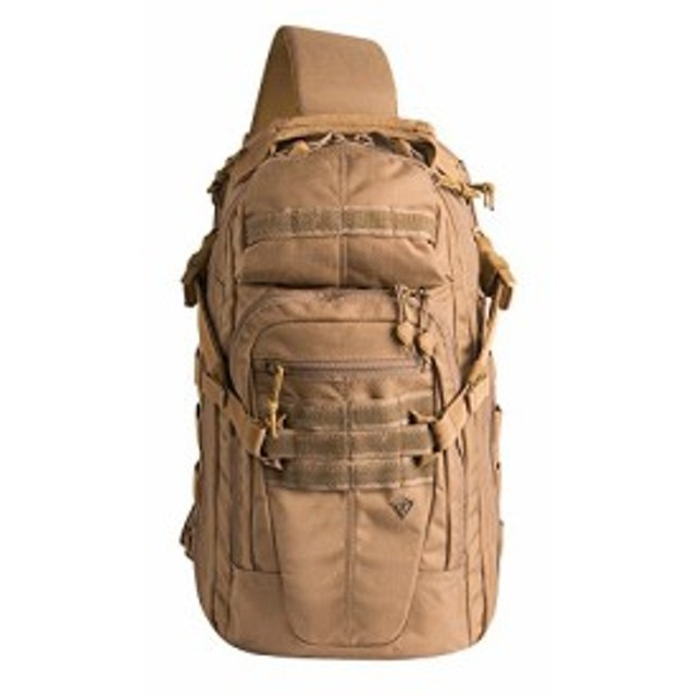 abc40655c023 ミリタリーバックパックFirst Tactical Crosshatch Sling Pack, Coyote ...