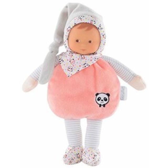コロールCorolle mon doudou Elf Happy Panda Toy Baby Doll, Pink