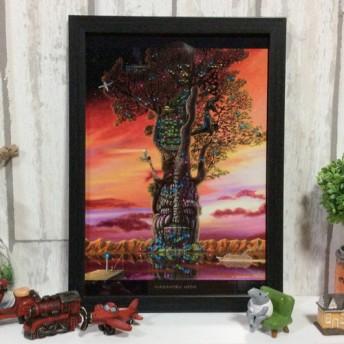 【A4サイズ額付き】夢凪の樹