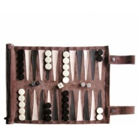 ボードゲームSondergut Roll-Up Suede Backgammon Game (Color-Mocha)