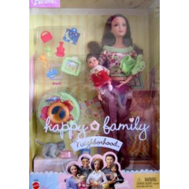 バービーBarbie Happy Family Neighborhood NEW NEIGHBORS w Mom & Baby Dolls & Accessories (2004)