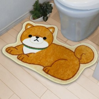 トイレマット 豆しば 豆しばワンコの物語 ( トイレ マット 犬 トイレ用品 トイレグッズ トイレタリー いぬ ドッグ )
