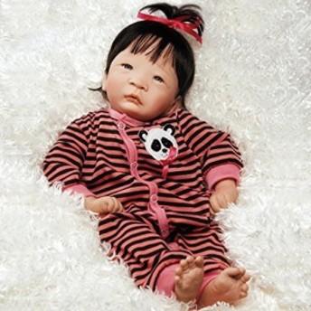 パラダイスギャラリーズParadise Galleries Realistic Asian Reborn Baby Doll Panda Twin Girl, 17 inch