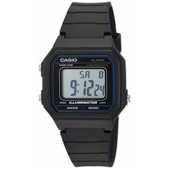 【当店1年保証】カシオCasio Men's 'Classic' Quartz Resin Casual Watch, Color:Black (Model: W-217H-1