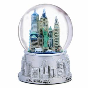 100mm Globe Musical New York City Skyline Snow Globe Souvenir 5 Inches Tall