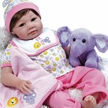 パラダイスギャラリーズParadise Galleries Realistic Reborn Baby Doll Sarah Safari, 8-Piece Gift Set,