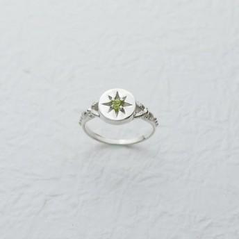 春の緑の葉(シルバーリンググリーンペリドット):: C%手作りの宝石::