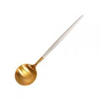 クチポール GOA(ゴア)ホワイト/ゴールド GO08GW デザートスプーン cutipol カトラリー