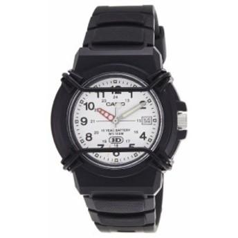 【当店1年保証】カシオCasio Men's HDA600B-7BV Black Resin Quartz Watch with White Dial