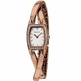 【当店1年保証】アキュリストAccurist Women's Quartz Watch with Mother of Pearl Dial Analogue Dis