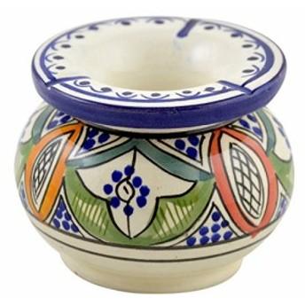 灰皿Ceramic Ashtrays Hand Made Moroccan smokeless Ceramic Vivid Colors Small
