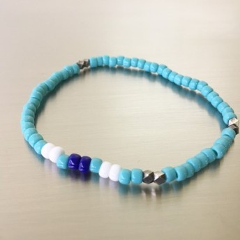 Glass Beads bracelet turquoise