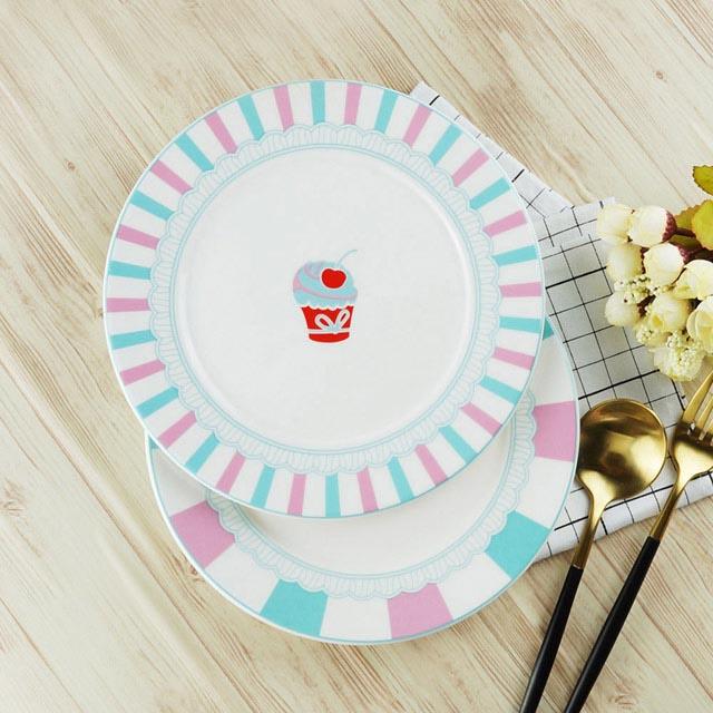 【Caldo卡朵生活】Girly趣味粉嫩蛋糕8吋點心陶瓷餐盤
