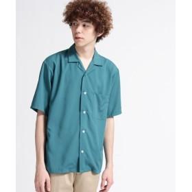 【50%OFF】 ティーケー タケオキクチ スパンローン オープンカラーシャツ メンズ ダークグリーン(023) 03(L) 【tk. TAKEO KIKUCHI】 【セール開催中】