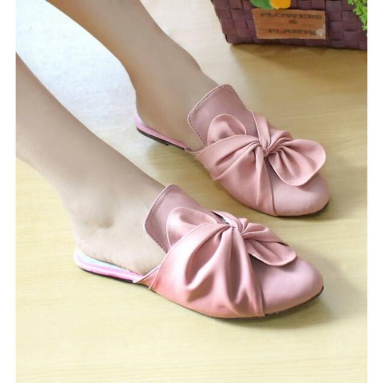 Sandal Wanita Terbaru Sendal Selop DN02 Salem