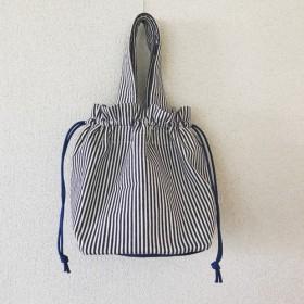 ストライプ巾着 バッグ