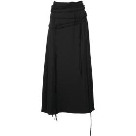 Yohji Yamamoto ストラップ ロングスカート - ブラック