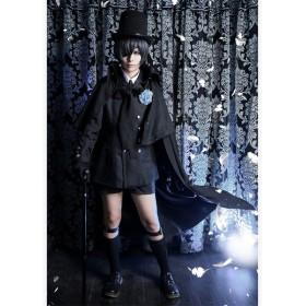 シエル コスプレ衣装 黒執事 豪華セット 葬式礼服 コスチューム 全セット