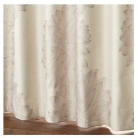 【送料無料!】アンティーク調ラインフラワー柄遮熱。防音。1級遮光カーテン ドレープカーテン(遮光あり・なし)