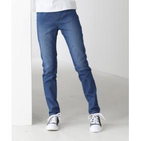 すごく伸びるデニムレギンス風スキニーパンツ(股下76cm) (レディースパンツ),pants