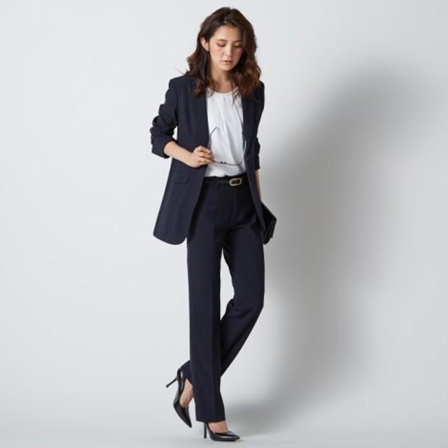防汚加工すごく伸びるもっとロング丈パンツスーツ(ストレッチ総裏地)【レディーススーツ】 (大きいサイズレディース)スーツ,women's suits ,plus size
