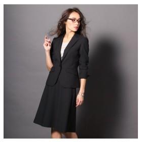 洗えるタテヨコストレッチスカートスーツ(ジャケット+フレアスカート) (大きいサイズレディース)スーツ,women's suits ,plus size