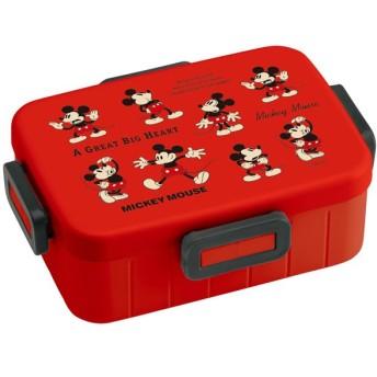 ミッキーマウス 弁当箱 1段 / 4点ロックランチボックス 650ml Mickey Mouse Cheerful チアフル