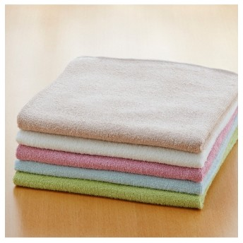 乾きやすいデイリーカラー超薄手バスタオル5枚セット バスタオル