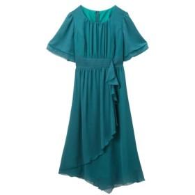 裾イレギュラー シフォン ワンピース ドレス