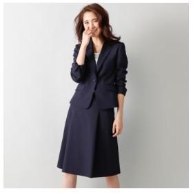 洗えるタックフレアスカートスーツ(スカートポケット付) (大きいサイズレディース)スーツ,women's suits ,plus size