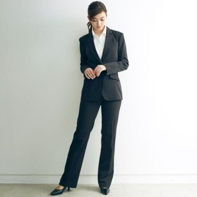 ニッセン 選べる2レングス スーツセット ロング丈ジャケット パンツ