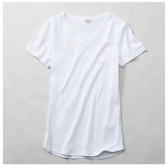 綿100%半袖VネックTシャツ