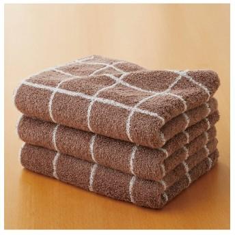 ふわふわジャカード織デザインフェイスタオル同色3枚セット フェイスタオル