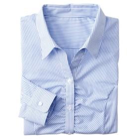 形態安定胸ギャザースキッパーシャツ(レギュラーバスト) (ブラウス)