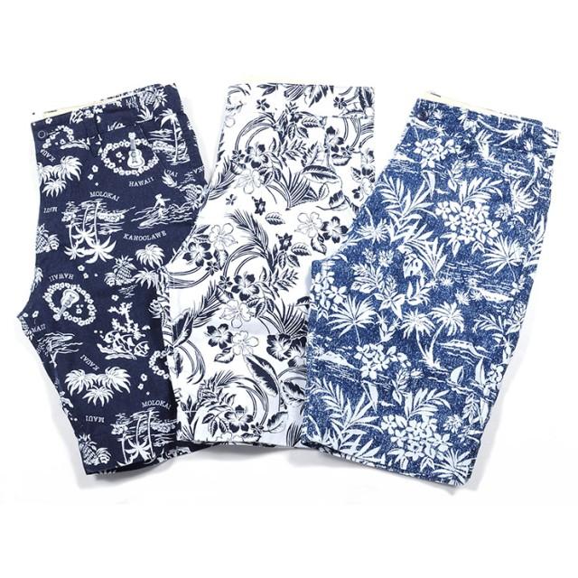 c8ad4de0315989 ハーフパンツ - SPADE ショートパンツ メンズ ショーツ ツイル 花柄 花 白 ホワイト 柄 ハーフ