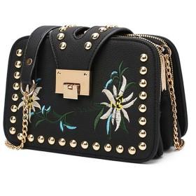 ショルダーバッグ - Miniministore ハンドバッグ 刺繍 ショルダーバッグ レディース 斜めがけ 鞄 かわいい 小さめ 人気