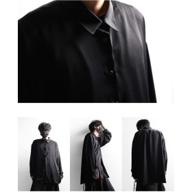 シャツ - minsobi 【MSB】3color 4wayオーバーサイズシャツ メンズ ビッグシルエット サマーシャツ メンズ ロングシャツ メンズしろシャツメンズ 黒 シャツ メンズ ストライプシャツ モード系 メンズ シャツ ミンソビ 【code-minsobi】