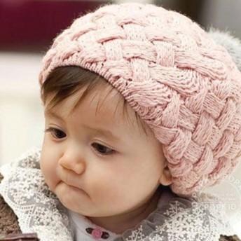 ベビー帽子 - レースレディース 帽子 ニット キッズ ニット帽 ボンボン 子供帽子 ポンポン 帽子 耳あて付 ベビー 子供 児童 可愛い 秋 冬 キャップ