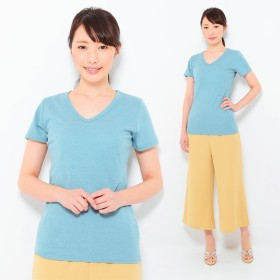 Tシャツ - CLOTHY ■CLOTHY BASIC■デオドラントCOOL■ 吸汗速乾 無地 Vネック 半袖 Tシャツ(S/M/L/LL/3L)