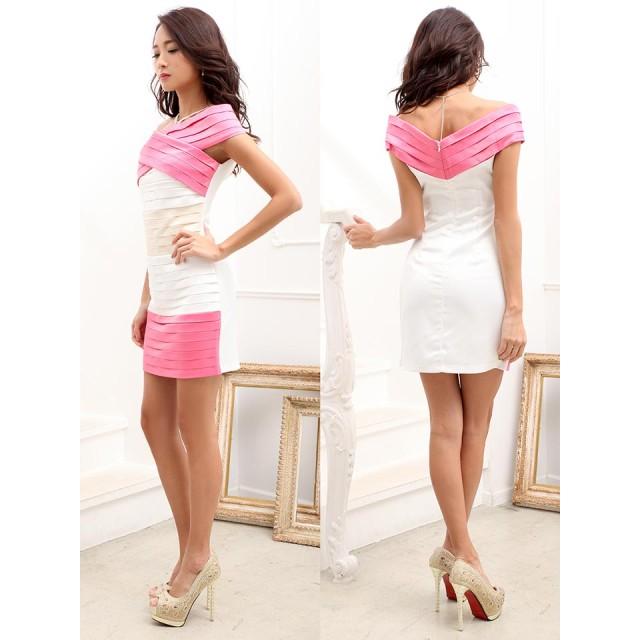 9ddb3153ad33e ドレス - Dazzy ドレス キャバ  star  SM Mサイズ フロントクロスサテン ...