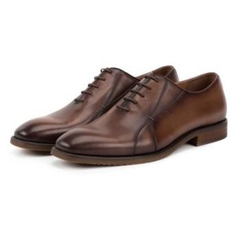 手作りハラコレザー内根紳士靴ビジネスメンズシューズ コーヒー 送料無料