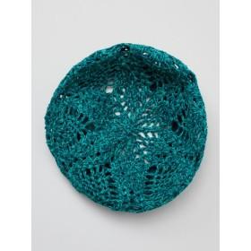 帽子全般 - チャイハネ 【チャイハネ】透かし編みコットンヤーンベレー帽