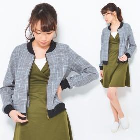 ジャケット・ブルゾン - CLOTHY グレンチェック ブルゾン