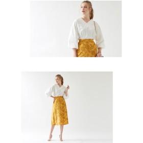 フレアスカート - titivate 3DフラワーチュールAラインスカート/立体的なフラワープリントが目を惹くスカート/ボトムス/レディース/スカート/Aライン/フレア/花柄/チュールスカート