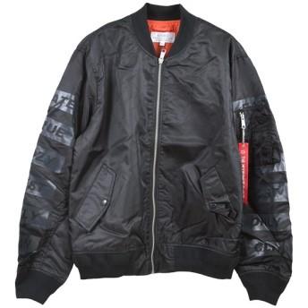 ミリタリージャケット - Style Block MEN ジャケット ブルゾン MA-1 MA1 ミリタリージャケット 星条旗 国旗 アウター メンズ オリーブ ブラック 春先行