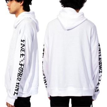 パーカー - 8(eight) パーカー メンズ パーカー全3色 アウタースウェット 袖ロゴプリント プルオーバーブラック ホワイト 黒 白 ピンクストリート系アメカジ系 に大人気♪8(eight) エイト 8