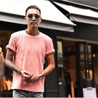 Tシャツ - JOKER Tシャツ メンズ 半袖Tシャツ ワッフル 半袖 サーフ系 半袖 夏 夏服 夏物 ブラック ピンク お兄系 オラオラ系BITTERビター系 JOKER ジョーカー DIVINER ディバイナー