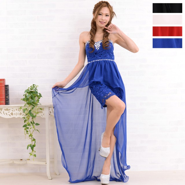 1877b974762d1 ドレス - LoveRich 0682総レースひらひらシフォンスカートロングドレス キャバドレス ナイトドレス ロング