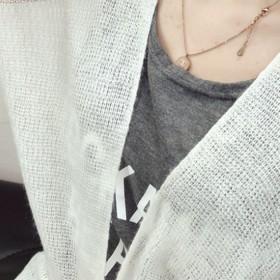 カーディガン - NewImage [新作★NewItem]2色!シンプルゆったり長袖透けロングカーディガン/レディース【RCP】【smtb-m】